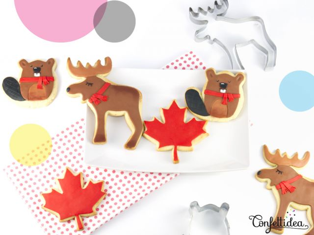 Canada Day Cookies