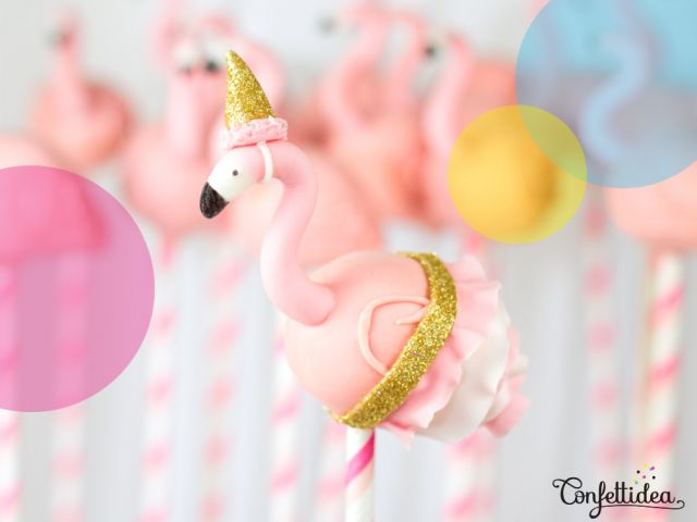Cakepops flamants roses