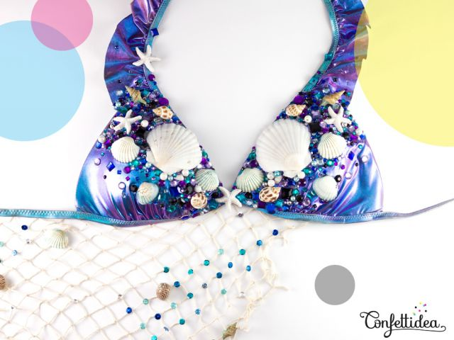 Mermaid Bikini Top (shell) for Tomorrowland
