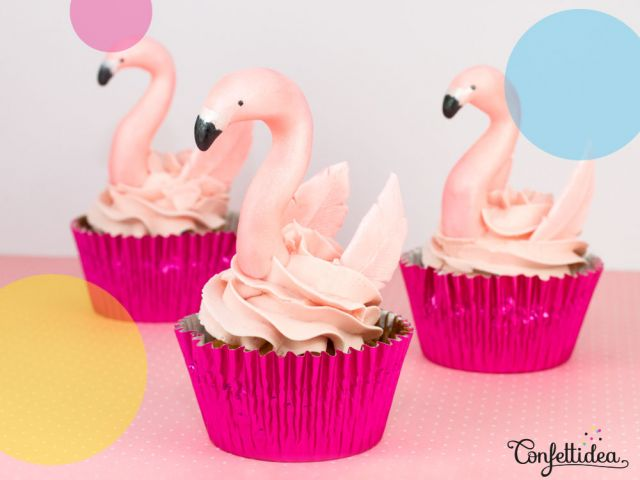 Donuts/Cupcakes Flamants Roses
