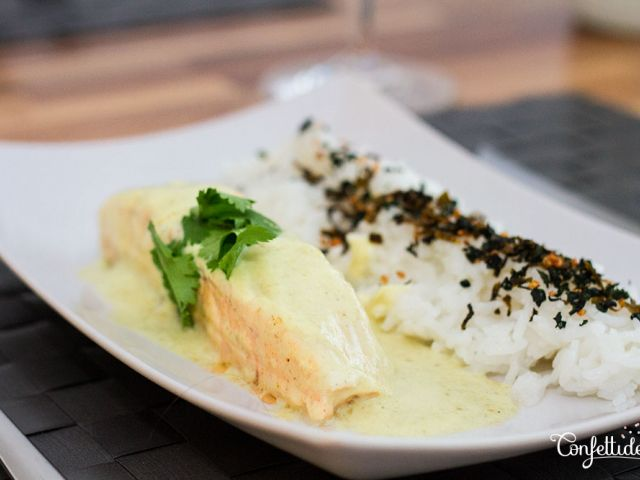 Poached Salmon in Coconut Milk