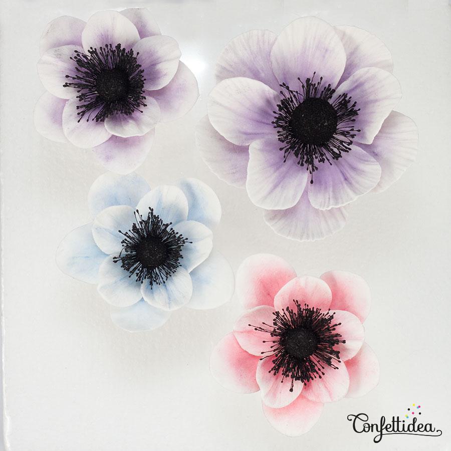 anemones gumpaste