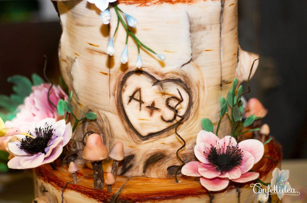 gâteau de mariage Aurélie et Simon