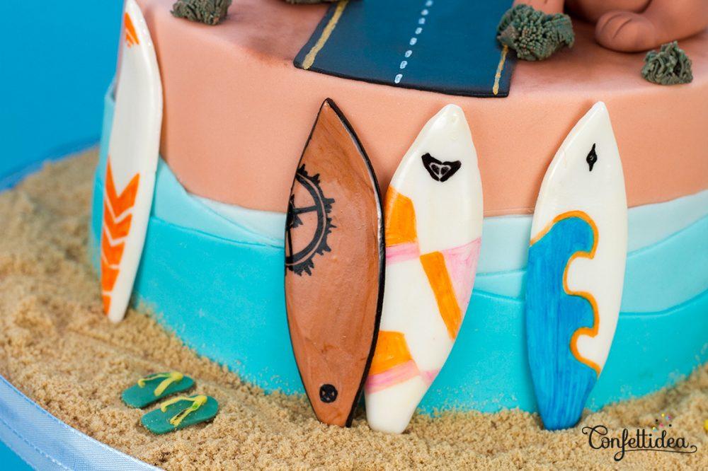 planche de surf - australie gâteau