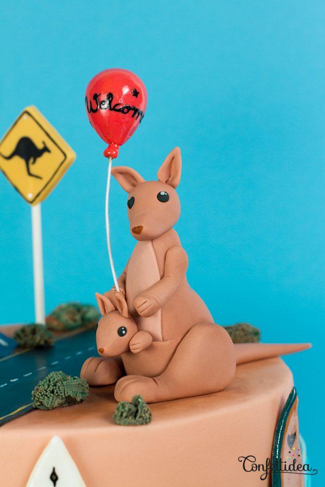 kangourou - australie gâteau