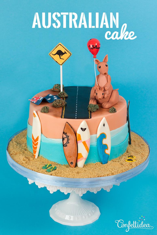 Gâteau Australie Confettidea