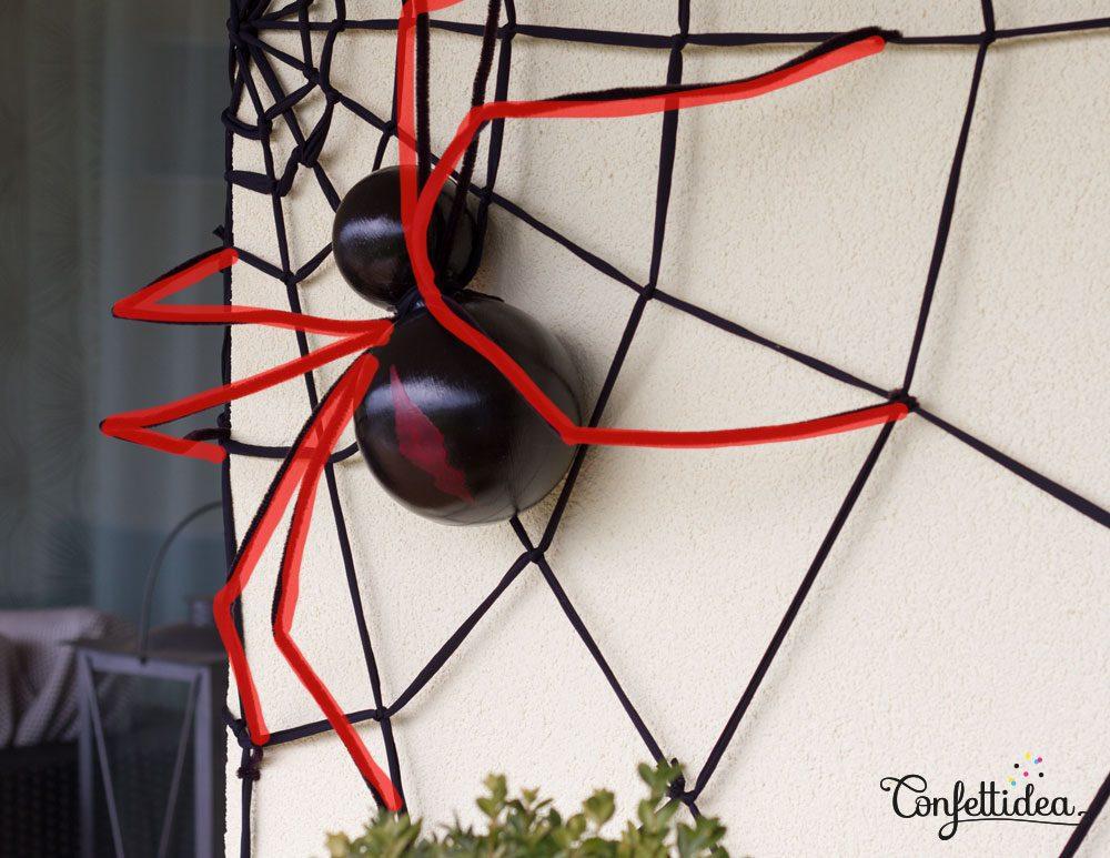 halloween toile d'araignée géante mur