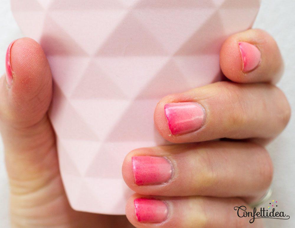 vernis à ongles ombré dégradé