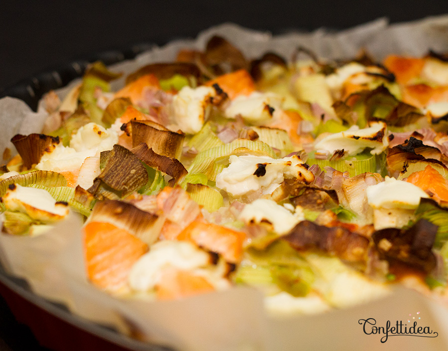salmon and leek pie without dough