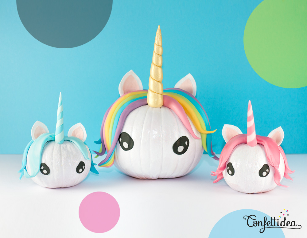 Halloween Unicorn Pumpkins DIY