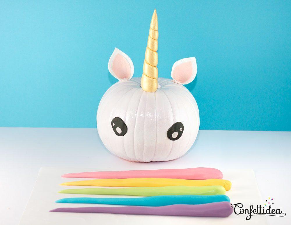 Halloween Unicorn Pumpkins DIY
